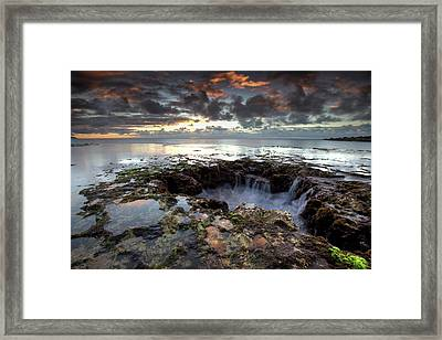Into The Abyss Framed Print by James Roemmling