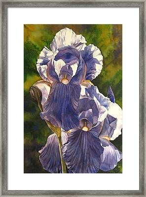 Framed Print featuring the painting Into The Blue by Alfred Ng
