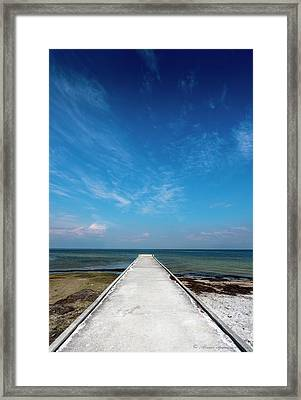 Into The Blue Framed Print by Marvin Spates