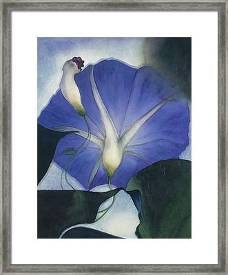 Into The Blue Framed Print by Nancy  Ethiel