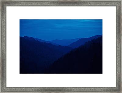 Into The Blue Framed Print by Rich Leighton