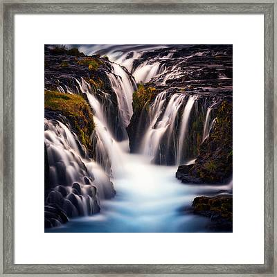 Into The Blue Framed Print by Stefan Mitterwallner