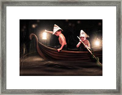 Into The Bog Framed Print