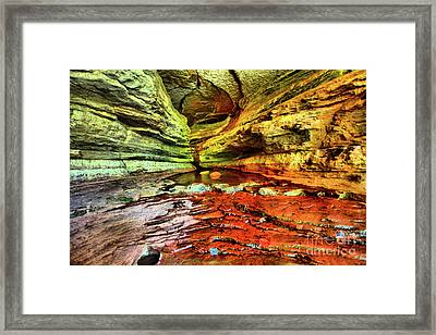 Into The Cave Framed Print by Kevin Kuchler