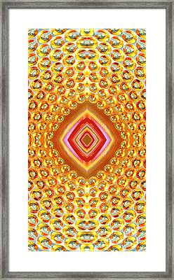 Framed Print featuring the digital art Into The Centre - Vertical by Wendy Wilton