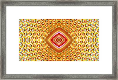 Framed Print featuring the digital art Into The Centre - Horizontal by Wendy Wilton