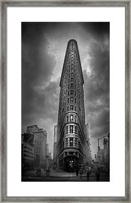 Into The Clouds Bw Framed Print by Marvin Spates