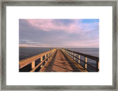Into The Clouds Framed Print