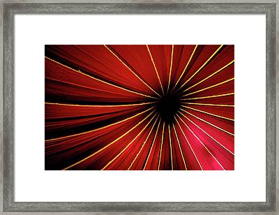 Into The Darknees Framed Print