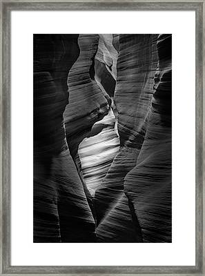 Into The Depths Framed Print