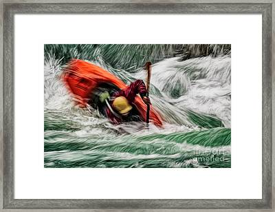 Into The Drink Framed Print