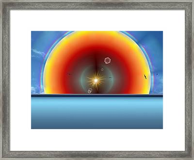 Into The Eye Of The Sunset Framed Print by Tim Allen