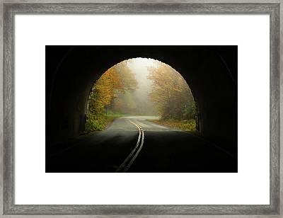 Into The Fall Blue Ridge Parkway North Carolina Framed Print by Terry DeLuco