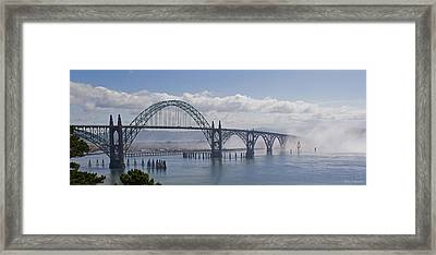 Into The Fog At Newport Framed Print