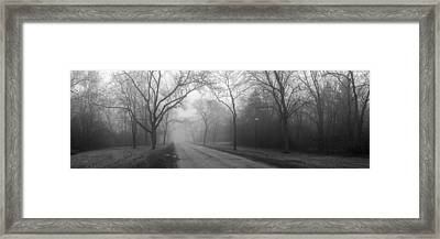 Into The Fog Framed Print by David April