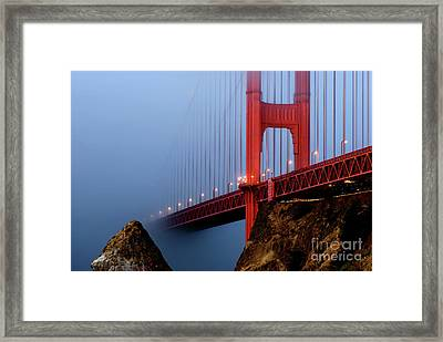 Into The Fog Framed Print by Joseph Greco