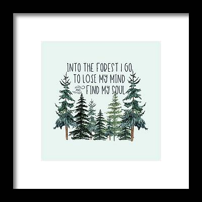 Into The Woods Framed Prints