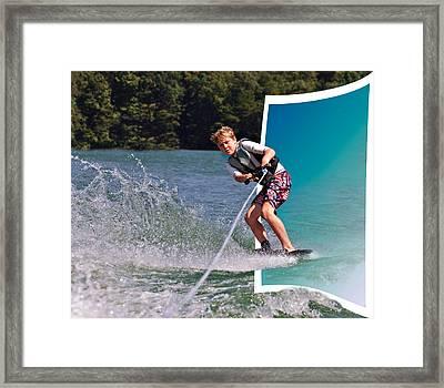 Into The Frame Framed Print by Susan Leggett
