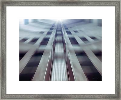 Into The Future Framed Print by Wim Lanclus