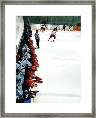 Into The Game Framed Print by Al Bourassa