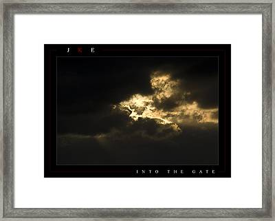 Into The Gate Framed Print by Jonathan Ellis Keys