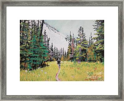 Framed Print featuring the painting Into The Hike by Terri Thompson