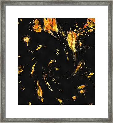 Into The Inferno Framed Print