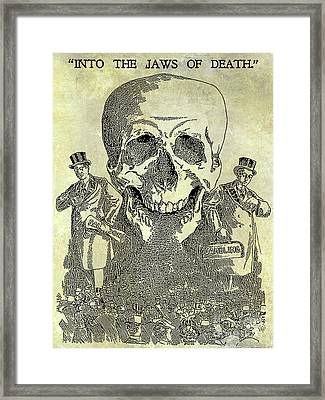 Into The Jaws Of Death Framed Print by Jon Neidert