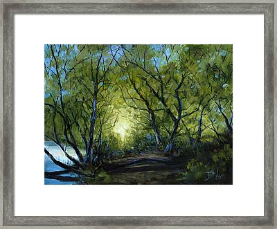 Framed Print featuring the painting Into The Light by Billie Colson
