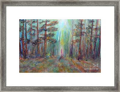 Into The Light Framed Print by Claire Bull
