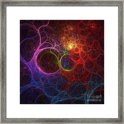 Framed Print featuring the digital art Into The Light by Deborah Benoit
