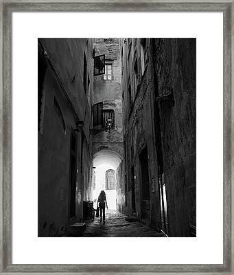 Framed Print featuring the photograph Into The Light, Florence, Italy by Richard Goodrich