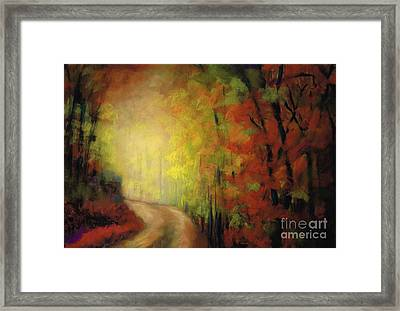 Into The Light Framed Print by Frances Marino