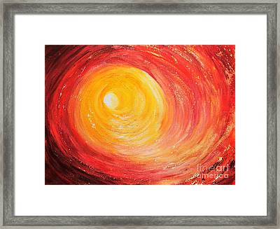 Into The Light Framed Print by Teresa Wegrzyn