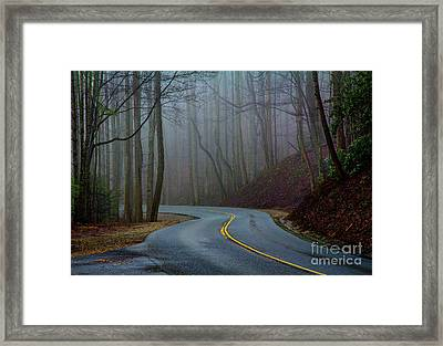Into The Mist Framed Print by Douglas Stucky