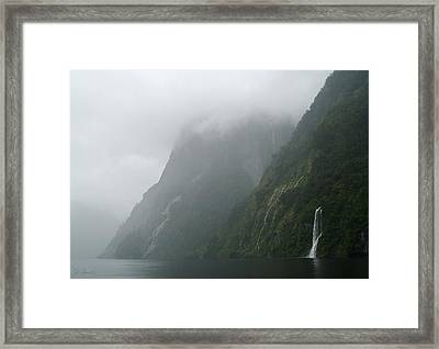 Into The Mist Framed Print by Joe Bonita