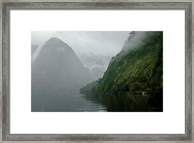Into The Mist No. 2 Framed Print by Joe Bonita