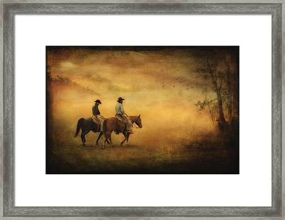 Into The Mist Framed Print by Priscilla Burgers