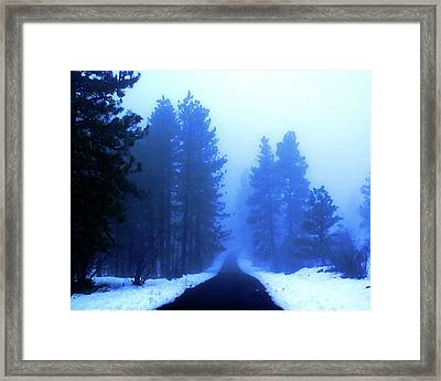 Into The Misty Unknown Framed Print by Ben Upham III