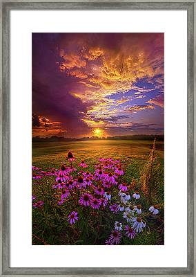 Into The Moment Framed Print