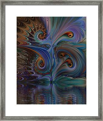Framed Print featuring the digital art Into The Mystic by Kim Redd