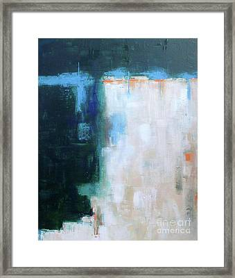 Into The Navy Blue Framed Print by Vesna Antic