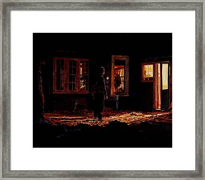 Into The Night Framed Print by Valerie Patterson