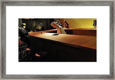 Into The Nighthawks Framed Print