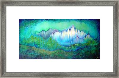 Into The Ocean Framed Print by Shadia Derbyshire