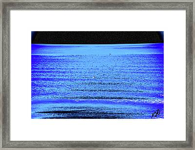 Into The Ocean Void Framed Print