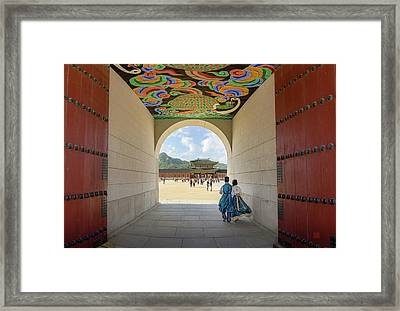 Into The Palace Framed Print