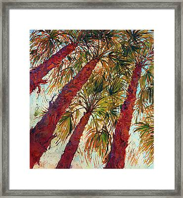 Into The Palms - Diptych Left Framed Print