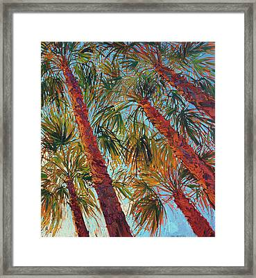 Into The Palms - Diptych Right Panel Framed Print