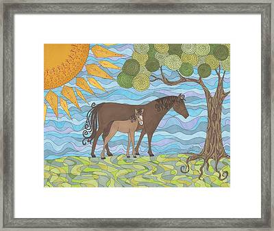 Into The Shade Framed Print